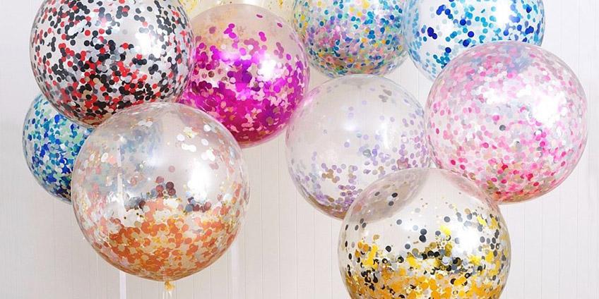 Доставка воздушных шаров с конфетти