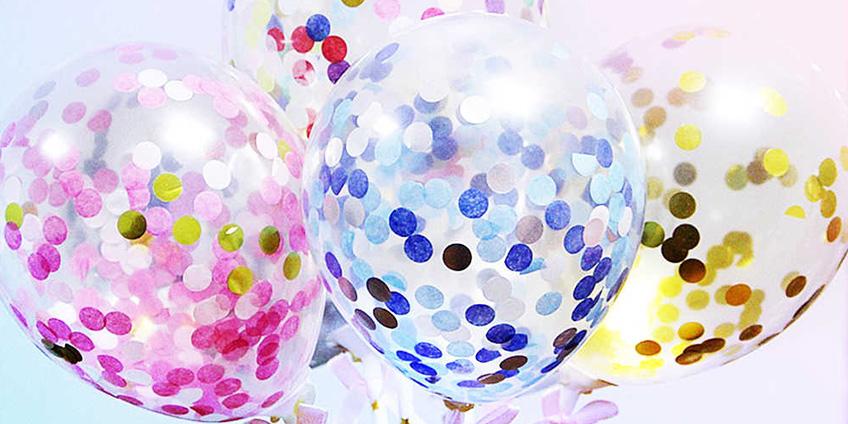 Воздушные шары с конфетти: что стоит знать